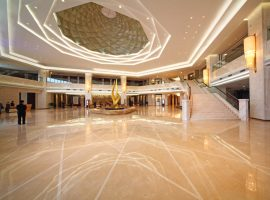 Aran White Marble lobby project