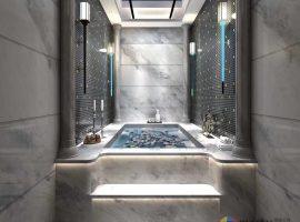 Orlando Grey Marble Bathroom