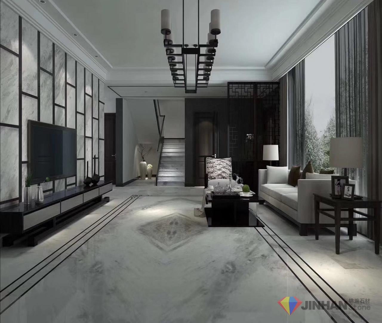 Orlando Grey Marble Living Room