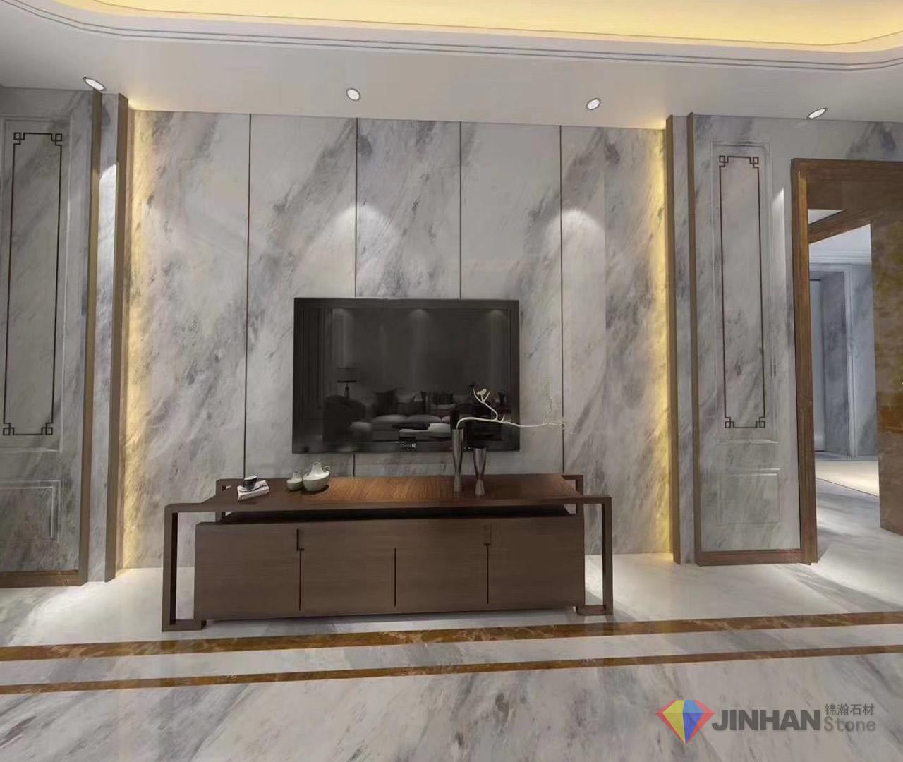 Orlando Grey Marble TV backdrop Project