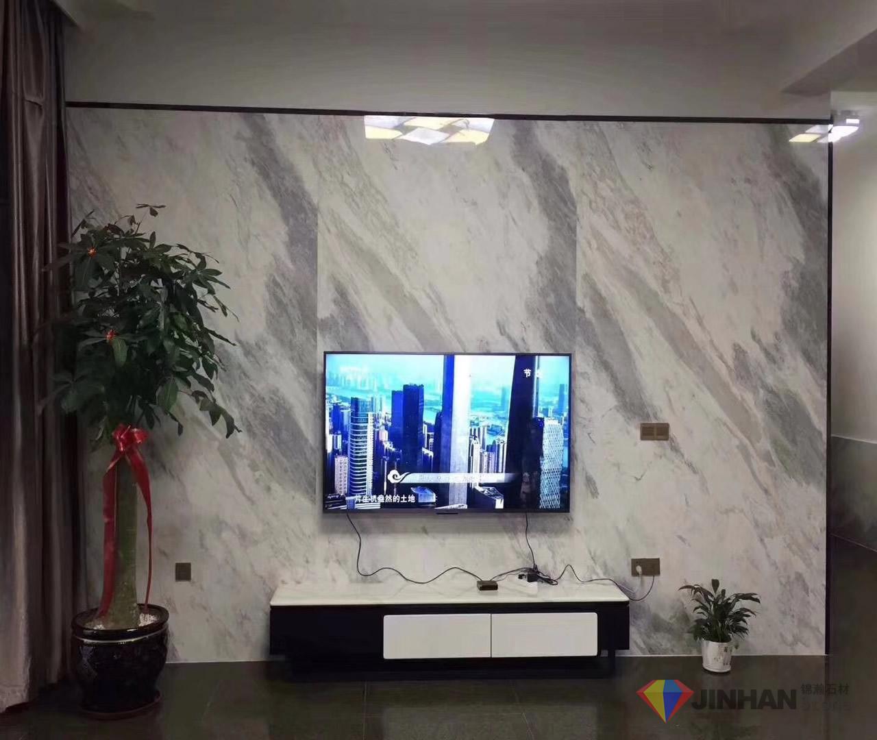 Orlando Grey Marble TV backdrop